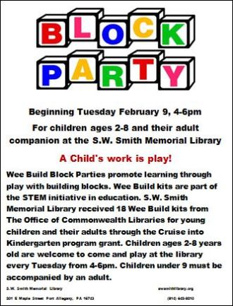 2-9 Block Party S.W. Smith Library