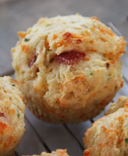 Jo and Sue: Bacon, Cheddar & Chive Muffins