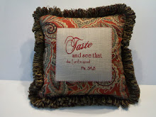 Ps. 34:8 - New fabric: red/black/tan