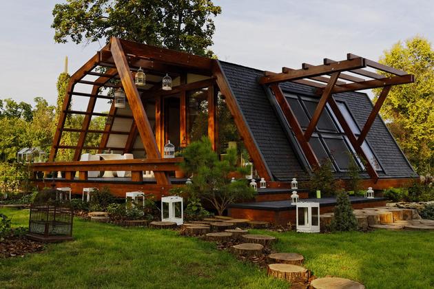 Rumah Kayu Modern Dengan Desain Kontemporer | Desain Rumah Modern