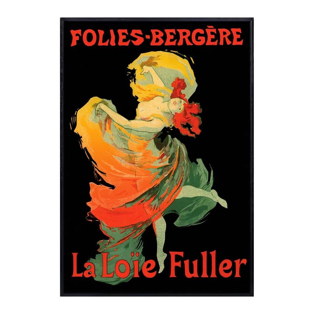 Loïe Fuller en un afiche de Henri de Toulouse-Lautrec