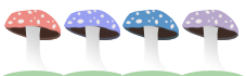 4 shrooms