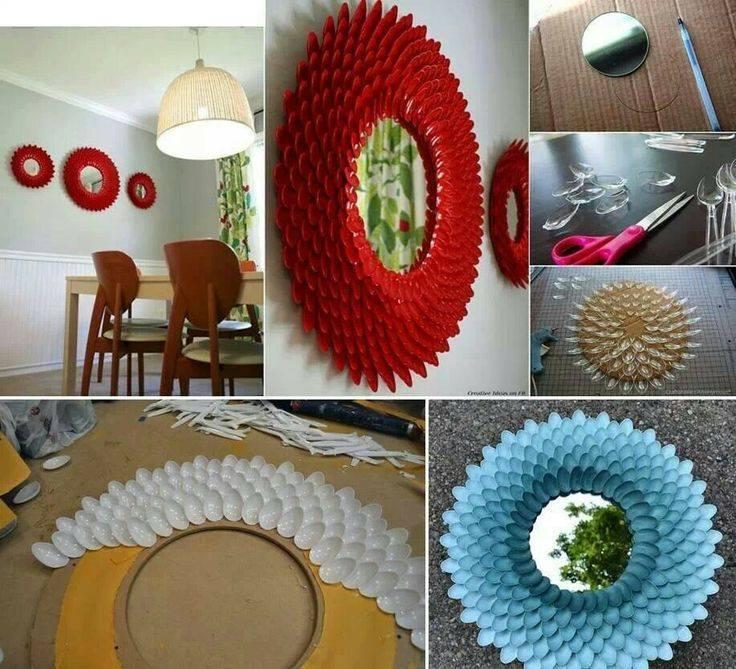Reciclar reutilizar y reducir fant sticas ideas para decorar espejos - Manualidades para decorar el hogar ...