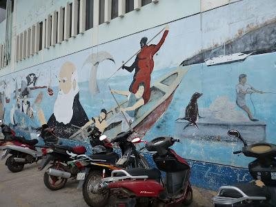Darwin Mural In Puerto Ayora