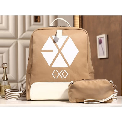AAA K-POP EXO SERIES BACKPACK (KHAKI)