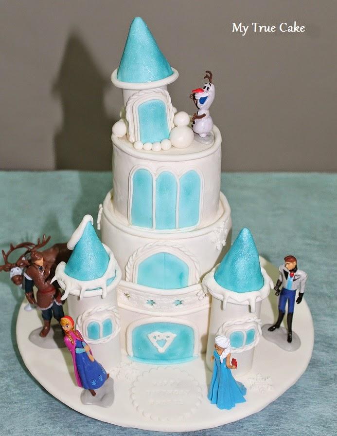 My True Cake Disney Frozen Castle Cake