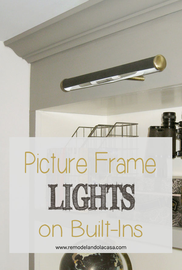 how to install picture frame lights on built ins