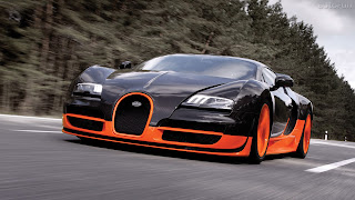 Red and Orange Bugatti free pc wallpaper