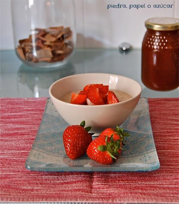 Porridge con miel y fresas piedra papel o az car - Fresas para piedra ...