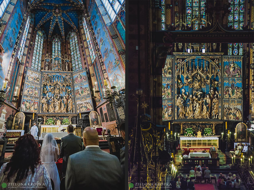 ładne-zdjęcia-ślubne-Andrychów-Kościół-Mariacki