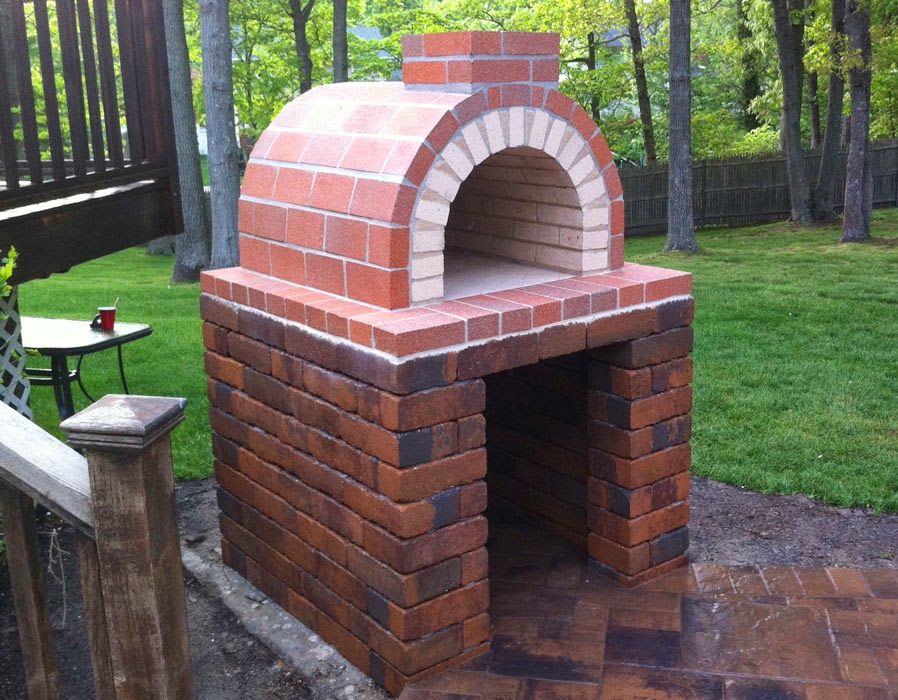 Brickwood ovens natalie wood fired pizza oven with hardscape block base new york - How to build an outdoor brick oven ...