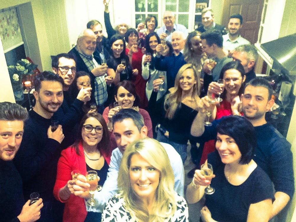 Engagement party selfie