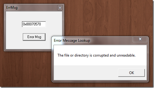 Windows Error Lookup tool