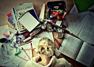 Education Books Notebooks Coffee Girl Blonde Pen HD Wallpaper