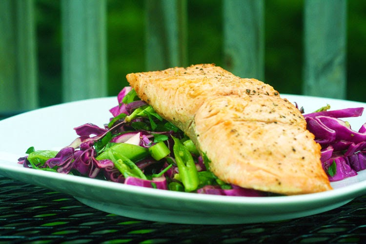 Pan-Seared Salmon with Purple Slaw | Hard Parade