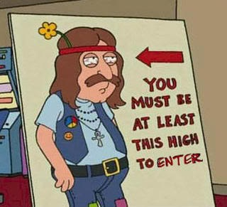 funny stoner simpsons quote you must be at least this high to enter