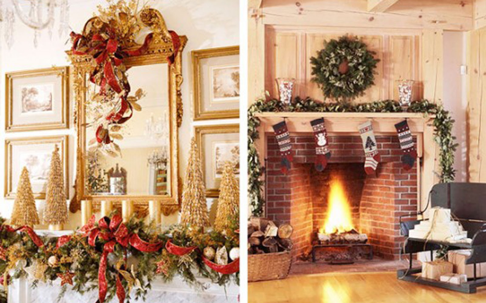 Decorate your mantel or chimney for christmas let 39 s for Christmas mantel design ideas