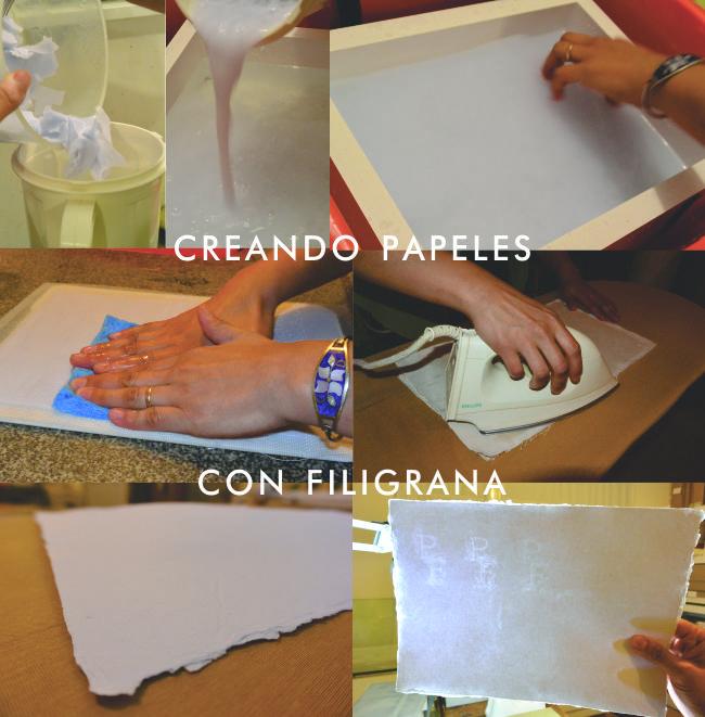 El proceso de creación de papales con filigrana