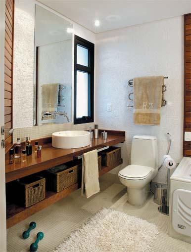 REFORMA e DECORAÇÃO  NOSSO PEQUENO AP Prateleira embaixo da pia do banheiro -> Banheiros Simples E Chique