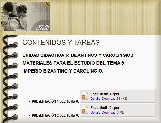 http://cienciassociales2.wikispaces.com/CONTENIDOS+Y+TAREAS