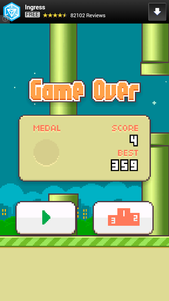 flappy bird highscore