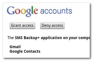 backup text sms messages android