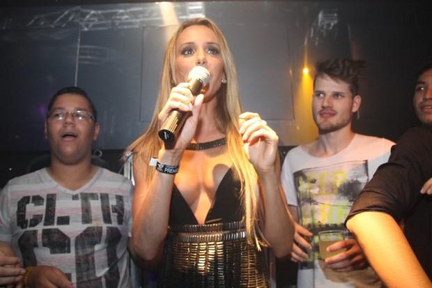 A modelo fez um discurso politizado na festa (Foto: Divulgação)