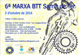 6ª MARXA BTT SARRIÀ DE TER