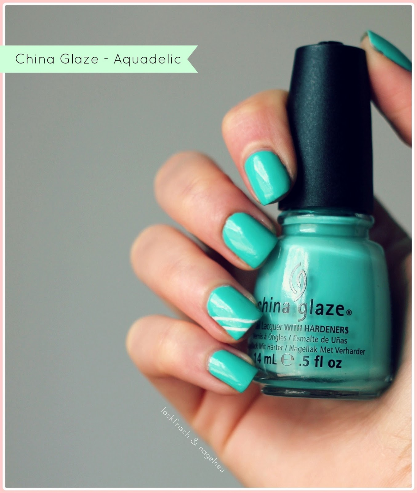 lackfrisch nagelneu t rkis geht auch immer china glaze aquadelic. Black Bedroom Furniture Sets. Home Design Ideas