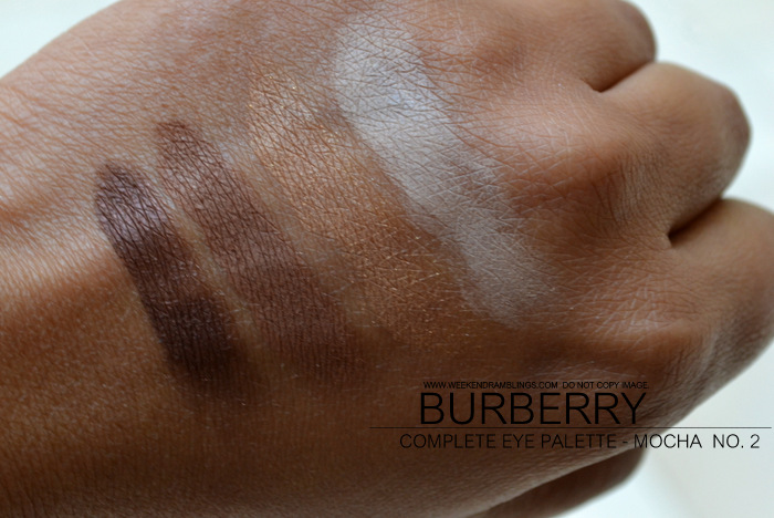 Burberry Vintage Gold Christmas Beauty Holiday 2012 Makeup Gifts Collection Complete Eyeshadow Palette Quads Indian Darker Skin Blog Swatches Mocha No 02