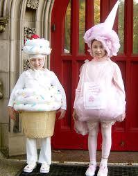 Fantasia Infantil de Cupcake e sorvete