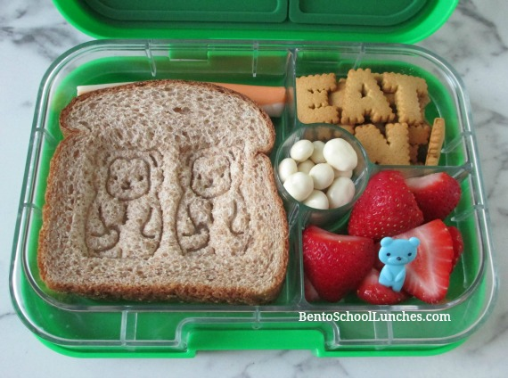 Stamped sandwich, quick and easy school lunch