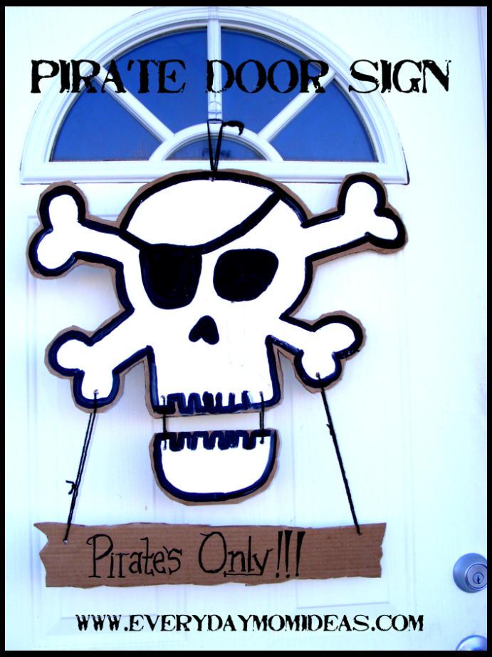 Cardboard Pirate Door Sign Tutorial