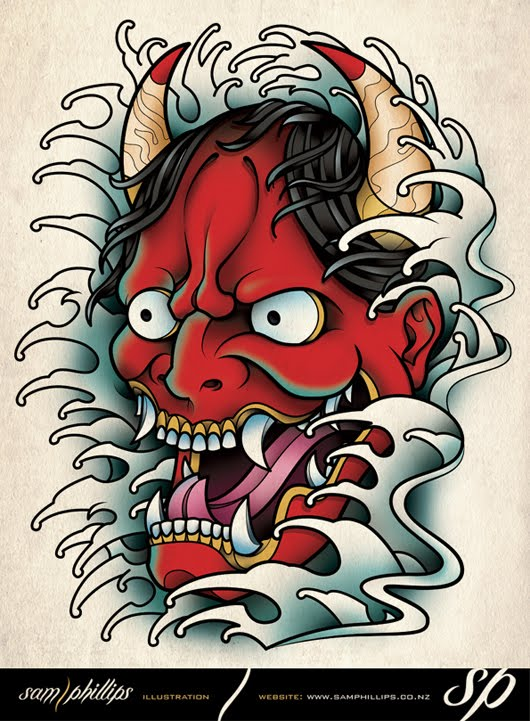 Japanese Hannya Mask Tattoo