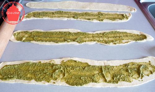 tourbillon brioche salé pesto parmesan