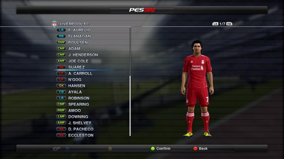 Все формы English Premier Реальные названия команд. Патч для PES 2012,