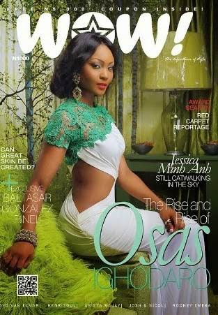 Osas Ighodaro takes over Wow magazine