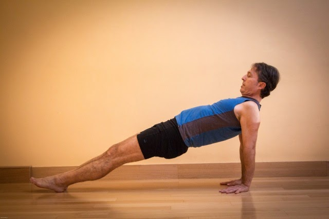 yoga for healthy aging featured pose upward plank pose