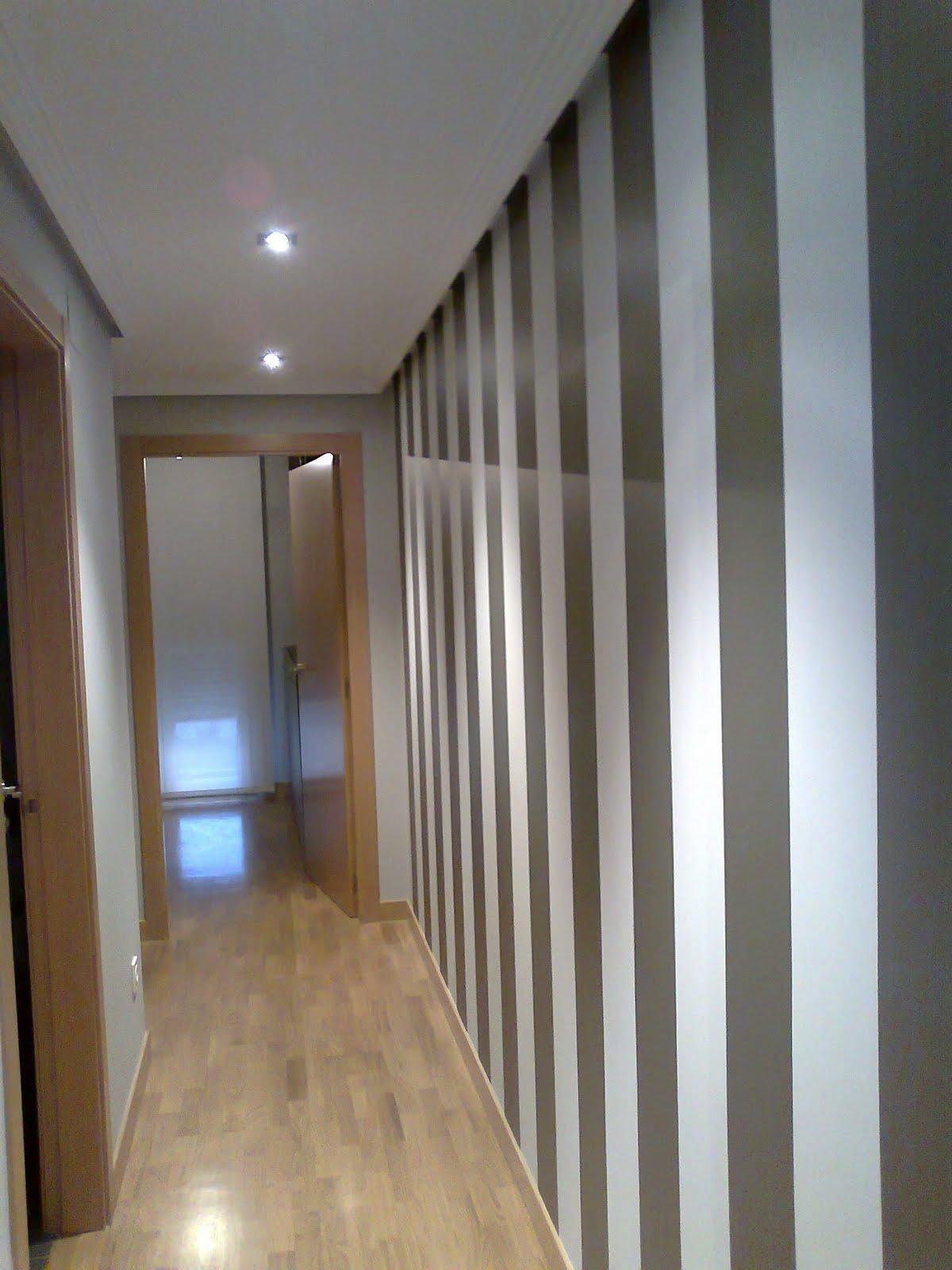 Pinturas aguado s l decoracion rayas pasillo viteri - Pinturas para pasillos ...