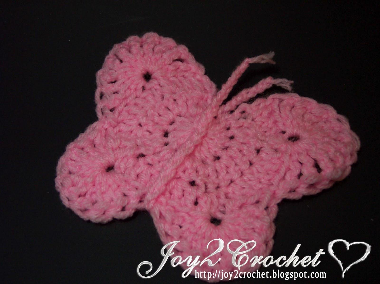 Joy 2 Crochet: Crochet Butterfly Appliqué