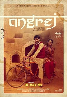Poster Of Angrej 2015 720p DVDRip Punjabi 5.1Ch