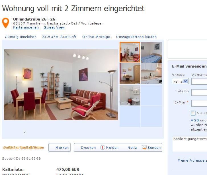 Wg Zimmer In Mannheim: Wohnungsbetrug.blogspot.com: Fritzkonz@yahoo.de