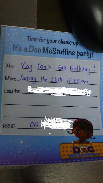 Adorable Doc McStuffins party invitations ! title=