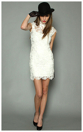 White Cocktail Dress on Posted By Fashionizelife At 11 24 Am