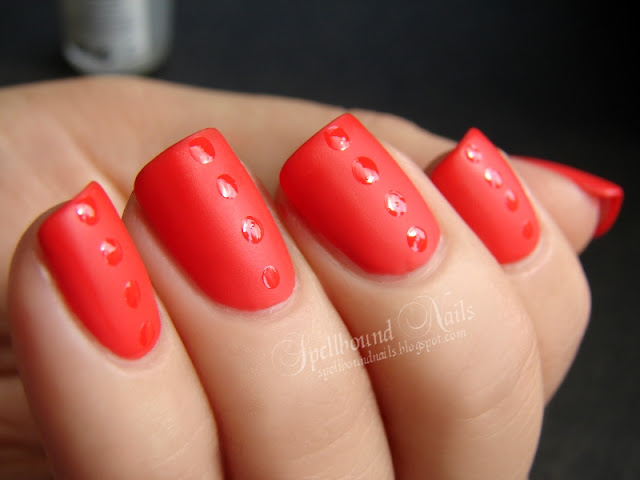 nails nail art nailart manicure mani Spellbound Nail-Aween Halloween Matte Dots Dotticure New York Color NYC red orange Challenge