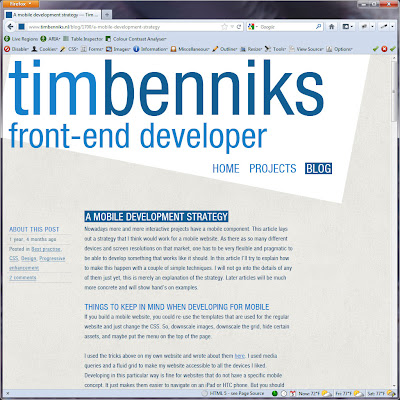 Screen shot of http://www.timbenniks.nl/blog/1700/a-mobile-development-strategy.
