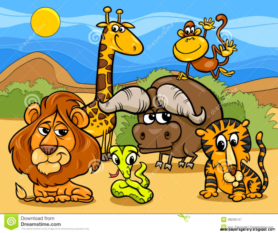 Amazing Clip Art: Group Of Wild Animals Clipart