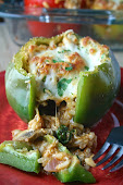 Spinach & Mushroom Stuffed Peppers