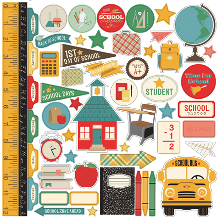 #school #scrapbooking collection designed by Jen Gallacher for Echo Park Paper: http://www.echoparkpaper.com/collections/teachers-pet/