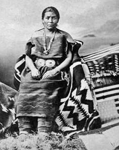 Juanita Master Navajo Blanket Weaver - the Wife of Headman Manuelito